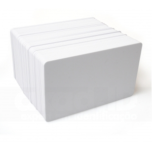Cartões PVC Branco Padrão CR-80 - 500 unidades