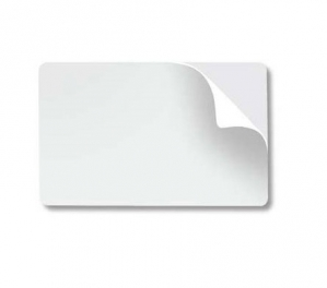 Cartões PVC Branco CR-80 adesivado