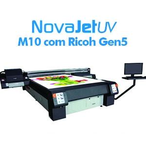 Impressora UV M10 com cabeças Ricoh Gen5