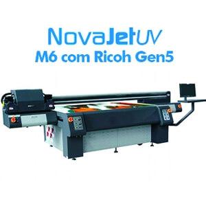 Impressora UV M6 com cabeças Ricoh Gen5