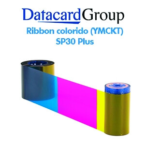 Ribbon colorido (YMCKT) para impressora SP30 Plus PN 546314-701
