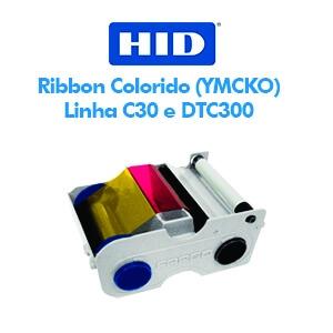 Ribbon Fargo Colorido (YMCKO) Impressoras HID-FARGO C30 e DTC300