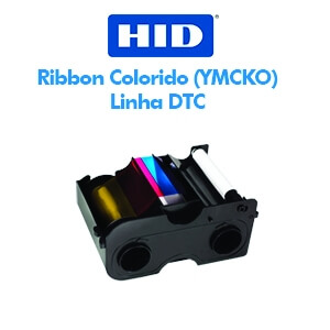 Ribbon Fargo Colorido (YMCKO) para impressora HID Fargo DTC 1000 e DTC1250e
