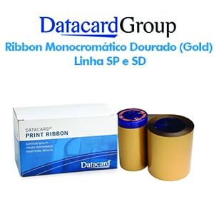 Ribbon Monocromático Dourado Fosco (Gold) - Linhas SP e SD